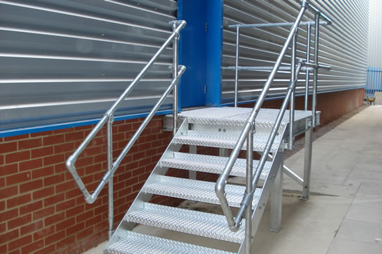 Small staircase manufactured for Fish Construction in Nottingham.